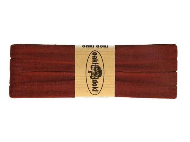 3m Jersey Schrägband - Viskose - 057 dunkles terracotta