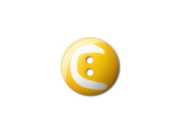 Buchstaben Knopf - Ø 15 mm - C