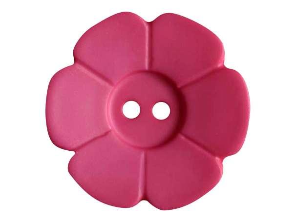 Knopf Blümchen 28mm - pink