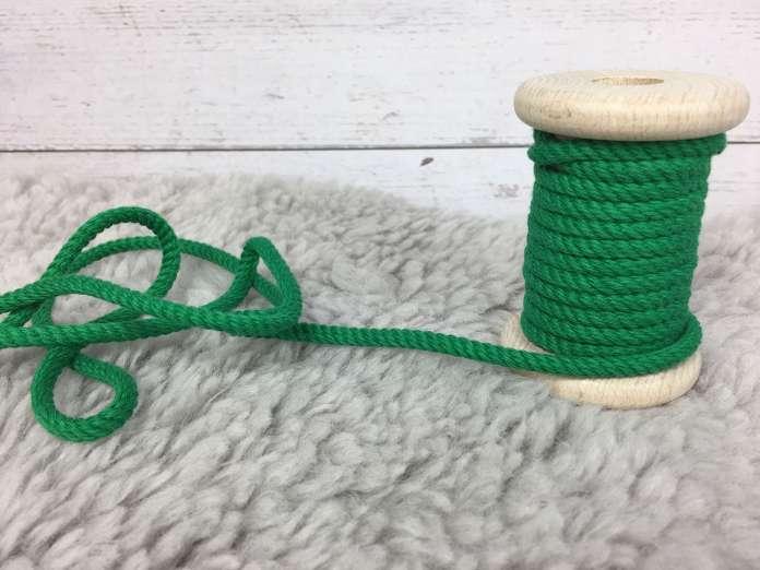 Kordel Ø 4-5mm - grasgrün