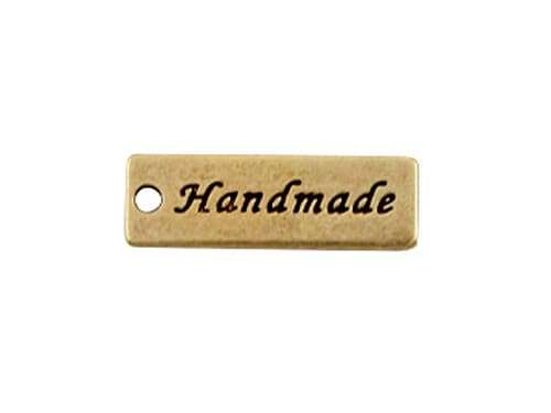 Anhänger - Handmade Label - bronze
