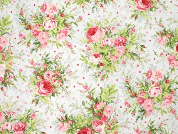 Baumwolle Stoff - Heather - Rose Bouquet