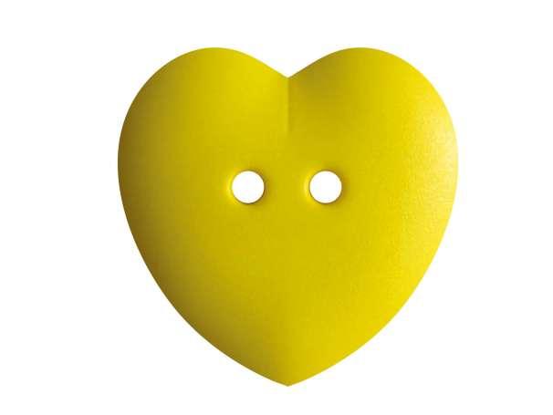 Knopf Herz 23mm - gelb