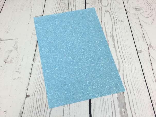 Glitzer Plotterfolie - DIN A4 - neonblau