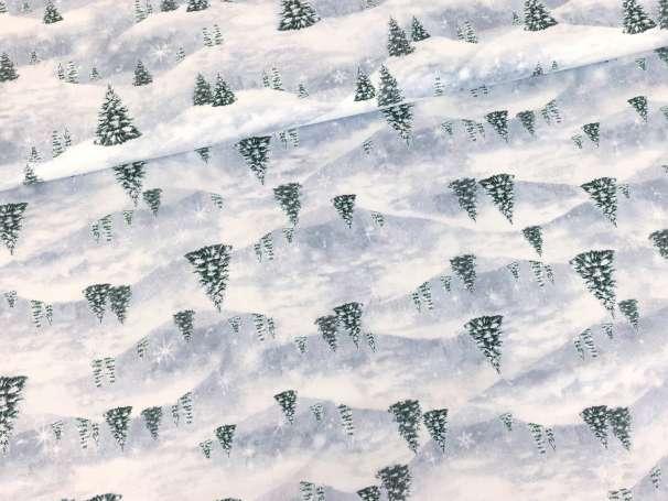 Baumwolle Stoff - Pine Tree Scenic