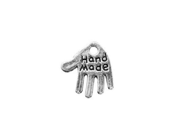 """Anhänger - Hand """"Handmade"""" - silber"""