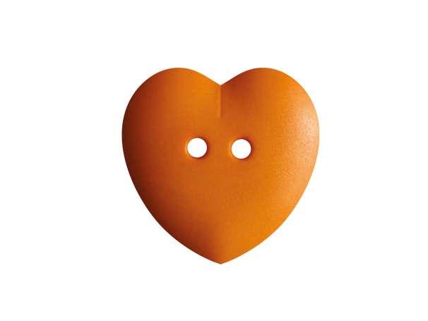 Knopf Herz 15mm - orange