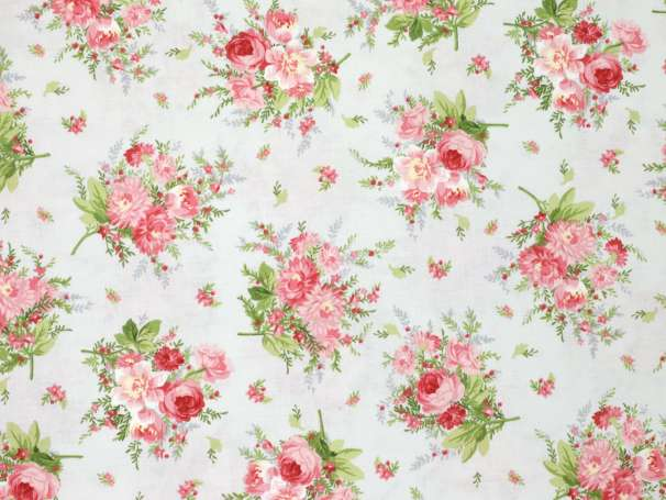 Baumwolle Stoff - Heather - Small Floral Blouquet