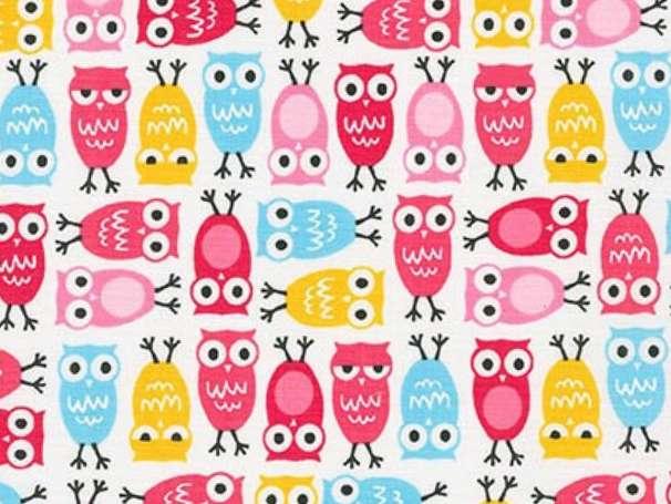Baumwolle Stoff - Sweet Mini Owls
