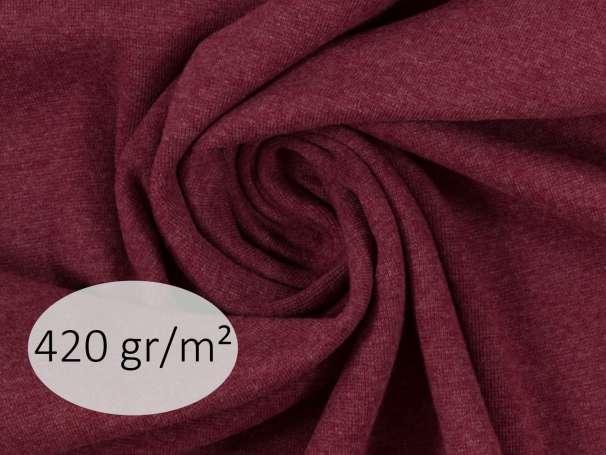 Bündchenstoff - ANTJE 420 gr. - bordeaux meliert