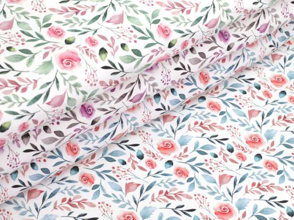 Jersey Stoff - Watercolor Flower - Farben