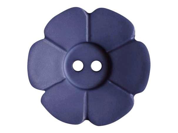 Knopf Blümchen 28mm - blau