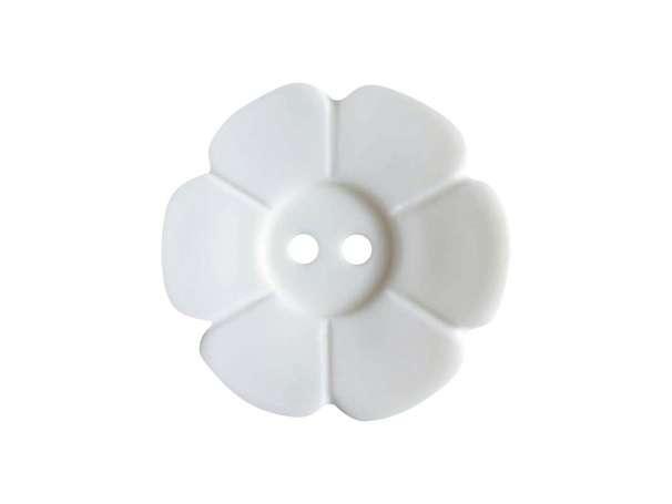 Knopf Blümchen 15mm - weiß