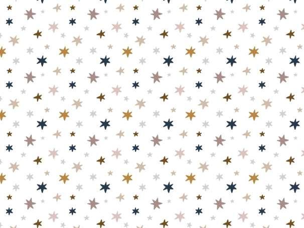 Jersey Stoff - Rainbow Smile - Sternchen