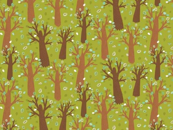 Baumwolle Stoff - Animal Hugs - Trees