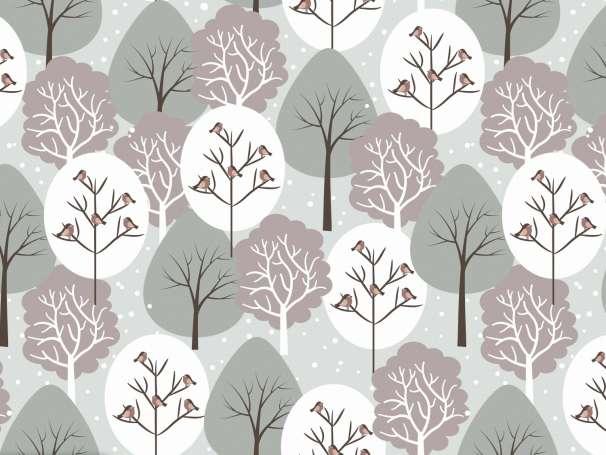 French Terry - Winterwald - braun/grün