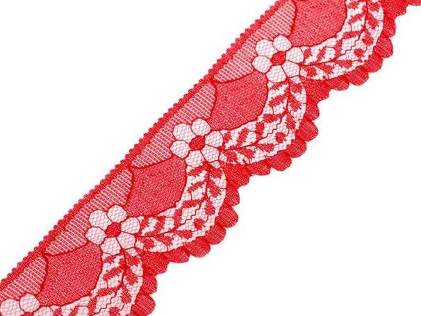 Synthetische Spitze Blumenbogen - 40mm - rot