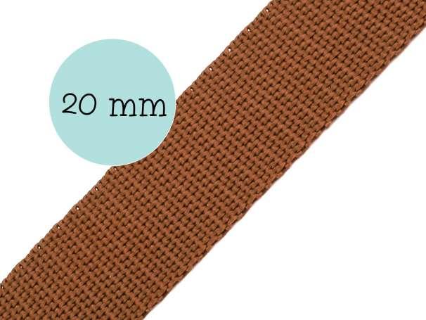 Gurtband - 20mm - braun
