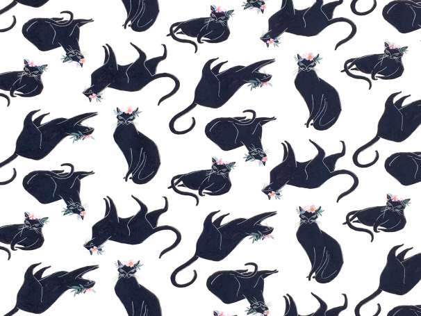 Baumwolle Stoff - Magik Cat