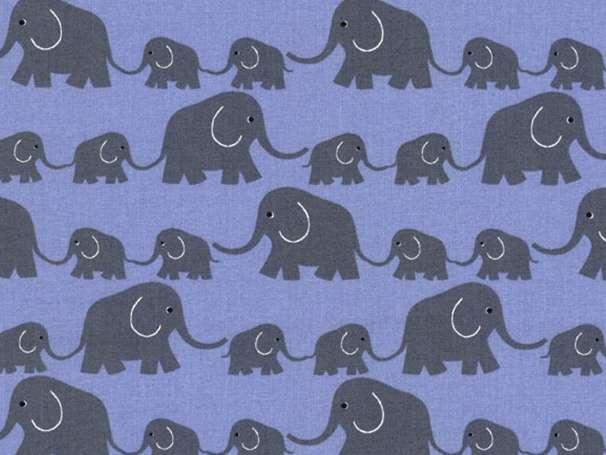 Westfalenstoffe - JUNGE LINIE - Elefanten, blau