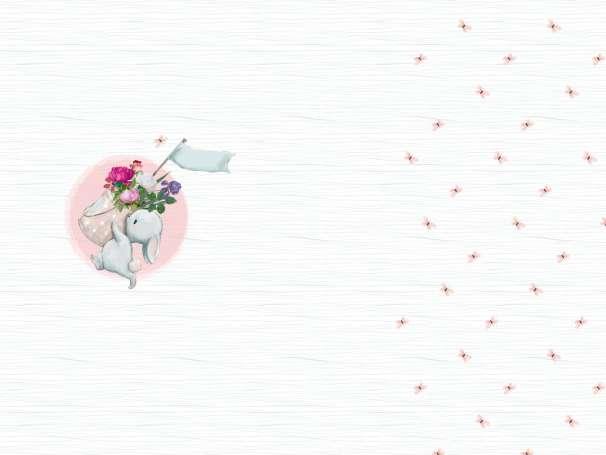 Jersey Stoff - PANEL - Häs'chen Blumengrüße