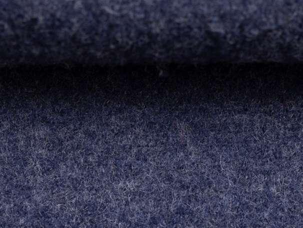 Wollstoff - Walk - dunkelblau melange