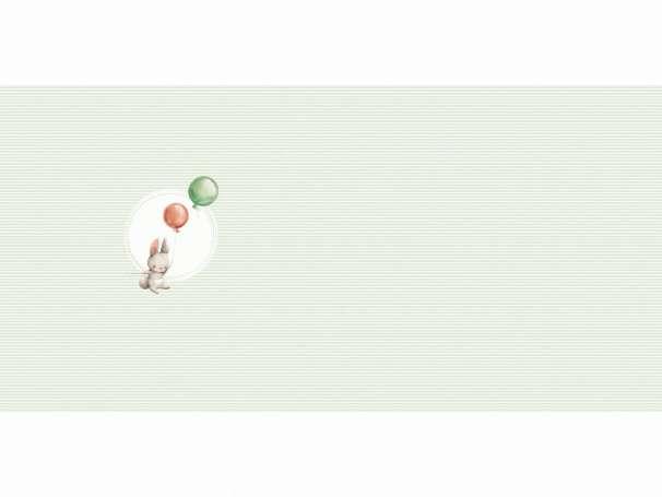 Jersey Stoff - PANEL - Let`s Fly - grün