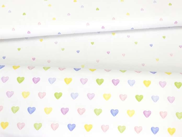 Jersey Stoff - Lovely Hearts - Serie