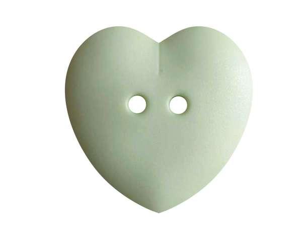 Knopf Herz 23mm - maigrün