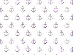 Jersey Stoff - Watercolor Anchor - lila