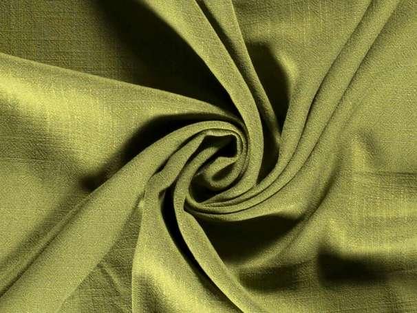 Viskose Leinen Stoff - Leinen-Struktur - khaki