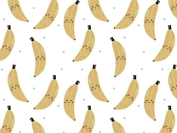 Jersey Stoff - Freche Früchtchen - Banane