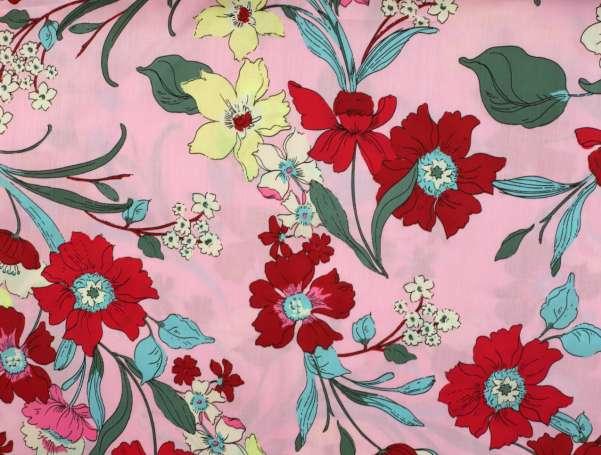 Baumwolle Satin Milliblus - In Bloom - Blumen