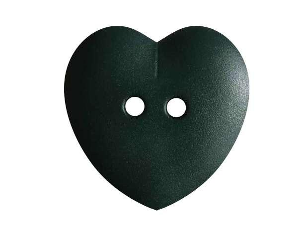 Knopf Herz 23mm - dunkelgrün