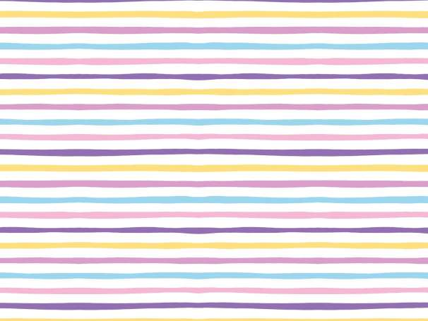 Jersey Stoff - Doodle Stripes - lila-gelb