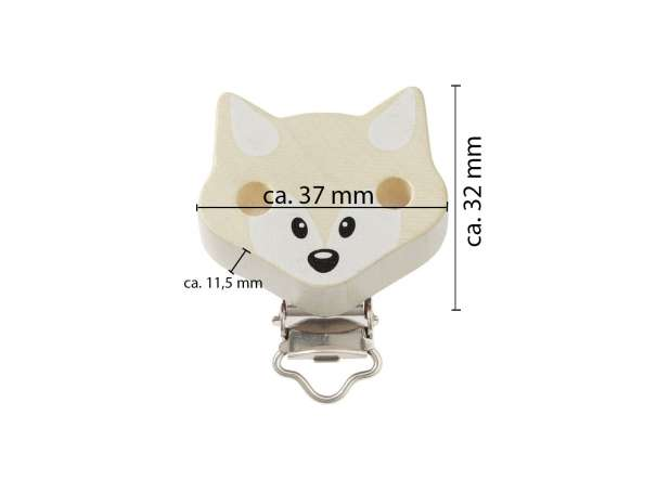 Schnulli-Ketten Clip - Fuchs - Maße