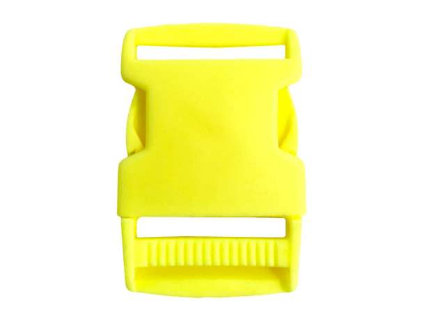 Steckschnalle Kunststoff - 30 mm - neongelb