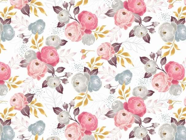 Jersey Stoff - Jardin de Fleurs