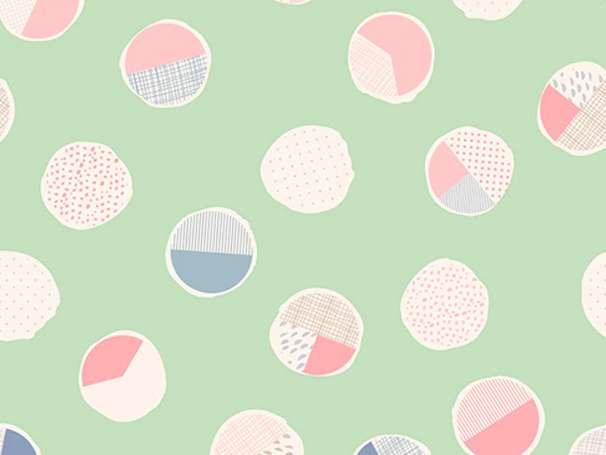 Baumwolle Stoff - Wonderful Things - Sweet Bubbles Mint