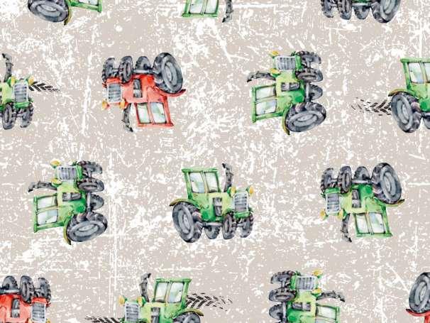 Jersey Stoff - Traktor - Grunge schlamm