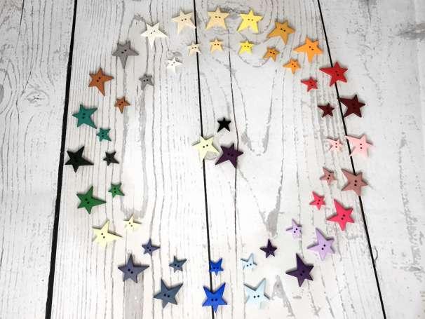 Knopf Stern - verschiedene Größen & Farben