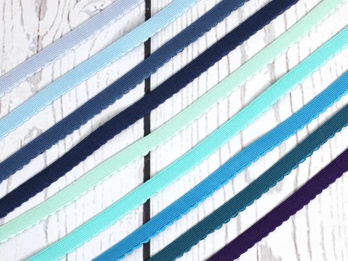 Gummiband - Bogenkante schmal - 12mm - Farbauswahl