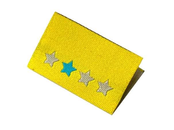 Webetikett Label - Handmade Sterne, gelb