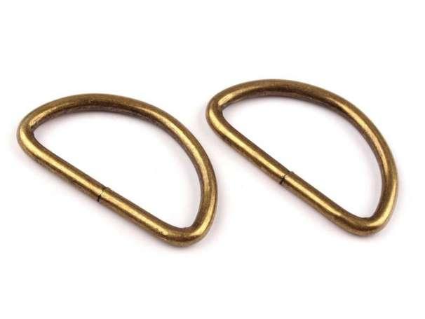 4 D-Ringe - 30mm - bronze
