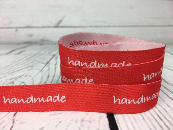 Webband rot - Handmade