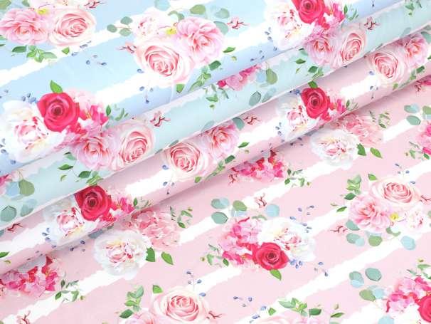 Jersey Stoff - Blumen Bouquet - Farben