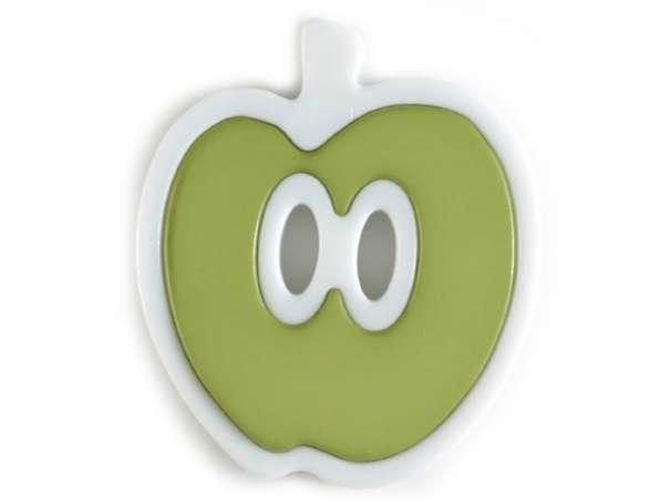 Knopf Apfel 25mm - grün