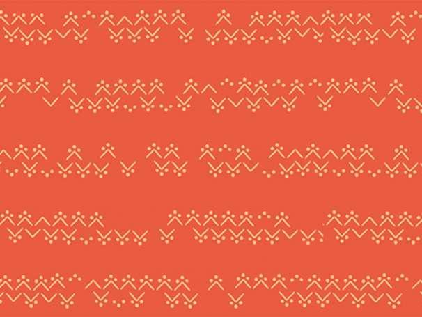 Baumwolle Stoff - Lugu - Tekstiil Emberglow