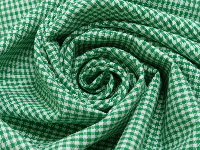 baumwolle stoff grasgr n wei klein kariert online kaufen kathi kunterbunt. Black Bedroom Furniture Sets. Home Design Ideas