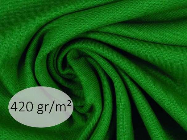 Bündchenstoff - ANTJE 420 gr. - grasgrün